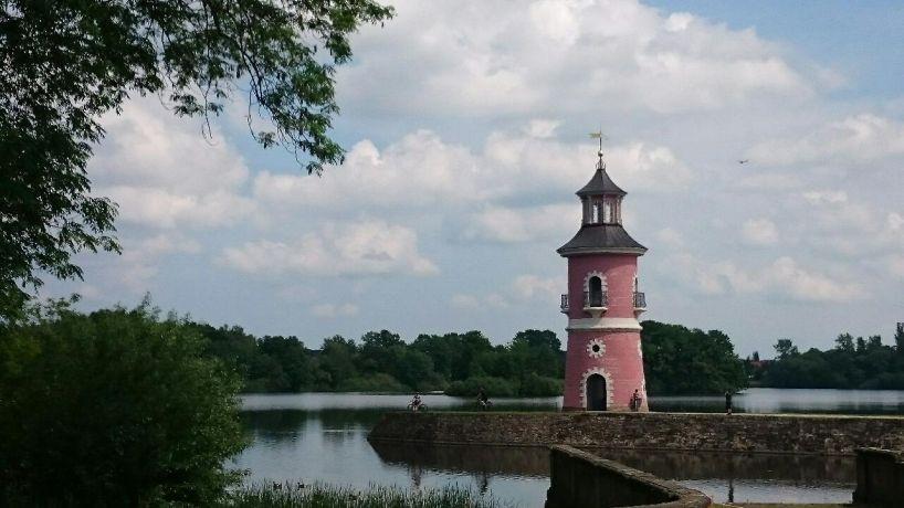 Leuchtturm am Fasanenschlösschen Foto EMODD